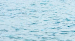 Close-up Shot of a mildly choppy Sea Surface Stock Footage
