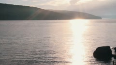 Dnister river in the evening. Stock Footage