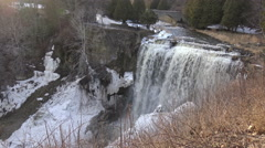 Waterfalls, Rock Shelf, Ice formations/ 4k nature footage 2015 Stock Footage