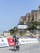 The Cyclist Jerome Pineau - stock photo
