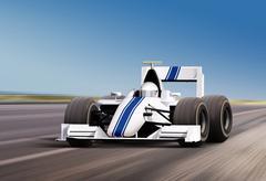 On speed track Stock Illustration