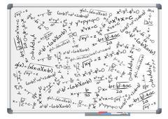 Stock Illustration of illustration of whiteboard with mathematics formula