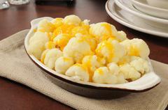 Cauliflower and cheese Stock Photos