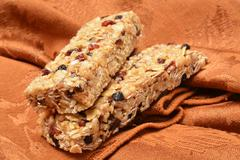 Chewy granola bars - stock photo