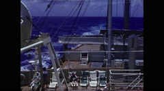 Cruise Ship Deck 1958 Stock Footage
