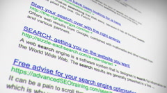 Scrolling Through Endless Internet Search Engine Results - stock footage