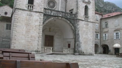 OLD STONE CHURCH  ,Old  City Kotor full HD Stock Footage