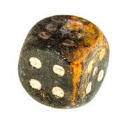 Old dice - stock photo