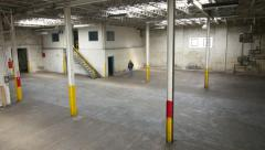 Wide Industrial Space Stock Footage