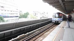 Taipei Metro Shilin Station. HD Stock Footage
