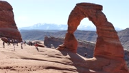Stock Video Footage of Delicate Arch, Arches National Park 4k
