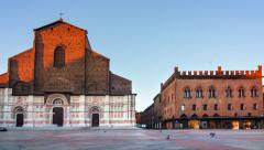 San petronio church bologna timelapse Stock Footage