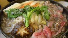 Boiling of Masusaka beef stew Stock Footage