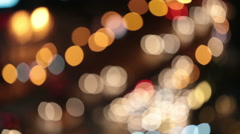 Out focus night traffic lights Stock Footage