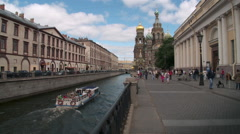 St. Petersburg - Church of the Savior on Spilled Blood Stock Footage