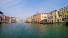 4K POV of Grande Canal tour in Venice Italy Stock Footage