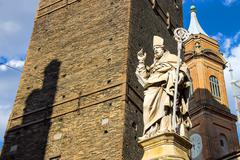 Statue of Bishop St. Petronius in Bologna. Italy Stock Photos