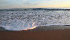sea ​​waves at dawn - stock footage
