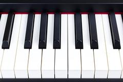 Close-up of electric piano keys Stock Photos