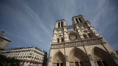 Notre Dame in Paris, France Stock Footage