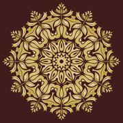 Orient  Pattern. Abstract Golden Ornament Stock Illustration