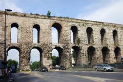 Valens Aqueduct in Istanbul - stock photo