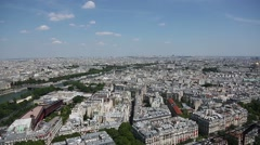 Aerial view of the city of Paris, France Stock Footage