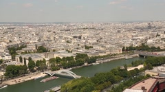 Aerial view of the city of Paris, France - stock footage