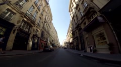 Driving in the city of Paris (POV) Stock Footage
