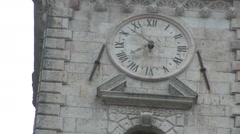 Old clock  on church Old  City Kotor full HD Stock Footage