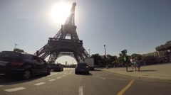 Driving in the city of Paris (POV) - stock footage