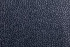 Dark blue leather texture background - stock photo