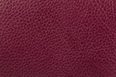 Dark red leather texture background - stock photo