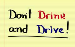 Don't Drink And Drive Concept Stock Illustration