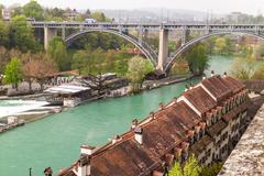 Stock Photo of Aar river in city of Berne