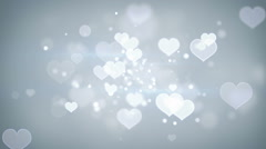 Heart shapes bokeh loopable romantic background Stock Footage