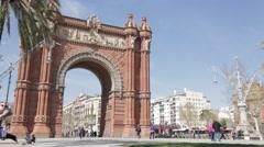 Arc De Triomf, Barcelona 2015 Stock Footage