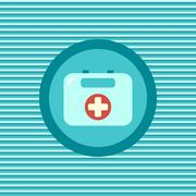 First aid kit color flat icon Stock Illustration