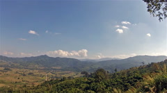 Mountain landscape northern  Thailand Stock Footage