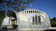 Exterior view of the New Church St Mary of Zion in Aksum, Northern Ethiopia Stock Footage