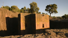 The Church of St. George is one of eleven monolithic churches in Lalibela Stock Footage