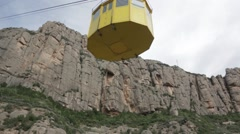 Montserrat monastery Cable-Car Stock Footage