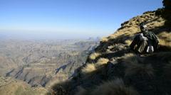 Simien Mountains National Park, UNESCO World Heritage Site, Amhara region Stock Footage