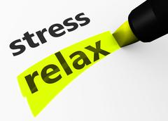 Stock Illustration of Stress Vs Relax Choice Concept