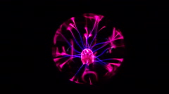 Plasma Ball glowing electric energy Stock Footage