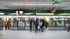 Taipei Metro Ximen Station.HD Stock Footage