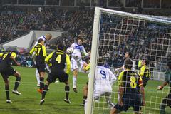 FC Dynamo Kyiv vs AZ Alkmaar Stock Photos