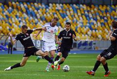 Football game FC Dynamo Kyiv vs Zorya Luhansk Stock Photos