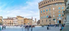 Long exposure in Piazza della Signoria, Firenze Stock Photos