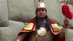 Stock Video Footage of Inca in Cusco, Peru